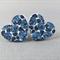 Stud Earrings - Denim Roses Wooden Heart