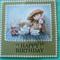 Teddy's Picnic/High Tea/ 3D  Happy Birthday Card