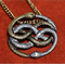 The Neverending Story Two Tone Auryn Pendant / Necklace