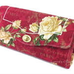 Necessary Clutch Purse/Wallet - Classic Roses