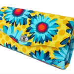 Necessary Clutch Purse/Wallet - Bright & bold - Daisies
