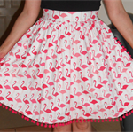 Retro Pink Flamingo Reversible Apron
