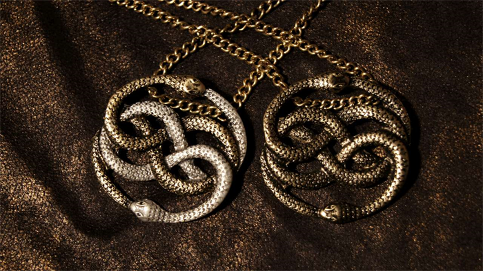 The neverending story two tone auryn pendant necklace geekify the neverending story two tone auryn pendant necklace mozeypictures Choice Image