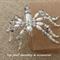 Grey Pearl Beaded Spider  Halloween Unique Handmade Original by Top Shelf