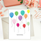 WATERCOLOUR BALLOONS BIRTHDAY GREETING CARD (DAY09)