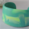 TEAL & LIME CUFF - a two tone hand cast resin cuff bangle in lime green and teal