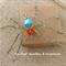 Turquoise Orange Spider OOAK Unique Handmade Original by Top Shelf