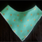 Mint gold metallic cross bandana bib