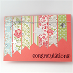 Congratulations Card - Banners and stars