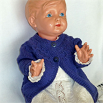 Cotton cardigan in navy size 2. Unisex. Baby shower