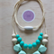 Silicone teething necklace -Violet in turquoise-