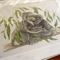 Koala 12x8 inch Print Australian Wildlife Art, mother koala cuddle in gum leaves