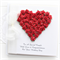 Personalised Wedding card keepsake gift boxed red paper roses heart card