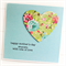 PERSONALISED Happy Mother's Day card spring garden floral paper heart on blue