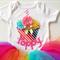 Rainbow Themed First Birthday Girl Onesie All Sizes Custom Name