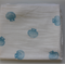 Shell Hand Stamped Organic Muslin Baby Blankets/Wraps/Swaddles