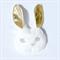 Bunny Mask - Gold  White & Pink Felt - Costume Children