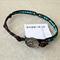 Designer CELEBRATE LIFE wrap bracelet /anklet| leather 925Silver|Turquoise beads