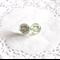 Vintage inspired blue bird glass dome earrings