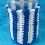 Bottle Cosy - Blue and White
