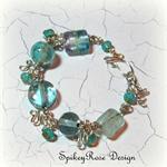 Pretty Turquoise Lampwork Bead Bracelet