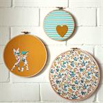 woodland | hoop art | trio | nursery decor artwork