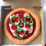 pepperoni pizza felt play food