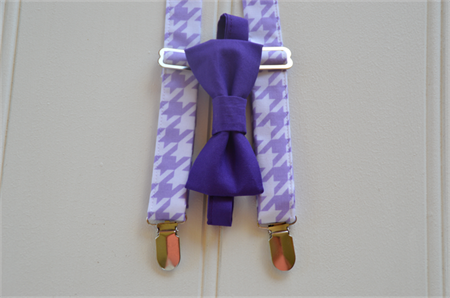 Children's bow tie and braces - mauve, purple, cake smash, party