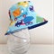 Boys summer hat in bright truck fabric