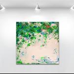 "Original abstract painting - ""Abstract no.45"" 40x40cm ready to hang."