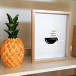 """Life Begins After Coffee"" Original Mini Print (5x7)"