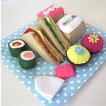 Felt Picnic Set, Play Kitchen Food.