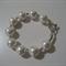 Diamonte-studded white pearl bracelet