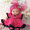 """5 inch Berenguer Baby -Adorable """"Blooming Pink"""" Crochet Doll Outfit"""