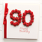 Any Age Personalised card birthday gift boxed red 18 21 30 40 50 60 70 80 90