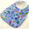 Baby Dribble Feeder Bib, Bugs Cotton Fabric, Cotton Toweling, Snap Fastened.