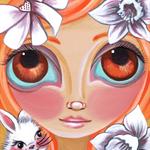 """Spring Princess"" Art Print by Jaz Higgins - Easter Rabbit Nursery Girls Room"