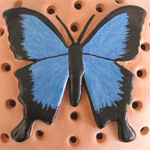 Mozzie Coil Holder with built in stand, Ulysses Butterfly Design