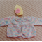 Size 0-6 month  knitted baby Jacket /Cardigan (multi colour) & beanie in yellow