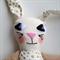 Golden Star Bunny- easter, soft toy, linen, cotton, embroidery, felt,velvet.