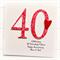 Anniversary Mum Dad card personalised red 20 25 30 35 40 45 50 55 60