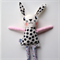Spotty Dotty Bunny- easter, soft toy, linen, cotton, embroidery, felt, lace.