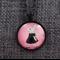 Girl Rabbit  ~  Black Pendant Necklace