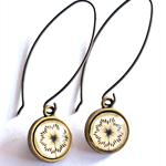 Dandelion ~Long Drop Earrings