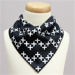 Black and white plus cross Bandana Dribble Bib