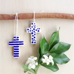 clay tags - mini crosses