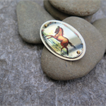 WILD HORSES,SUBLIMATION BROOCH