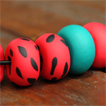 The watermelon polymer clay necklace