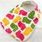 Baby/Infant Bib, Cute Hippopotamus Cotton Fabric, CottonToweling backed.