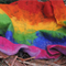 Rainbow cobweb felt baby blanket/wrap photo prop photography newborn nest filler